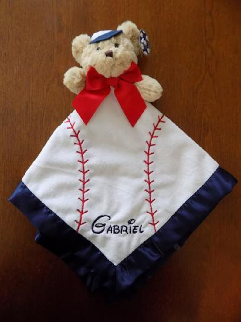 Personalized Baby Blanket Personalized Baby Lovie Personalized Baby Gift Personalized Baby Snuggie Baby Blanket Bearington Bear