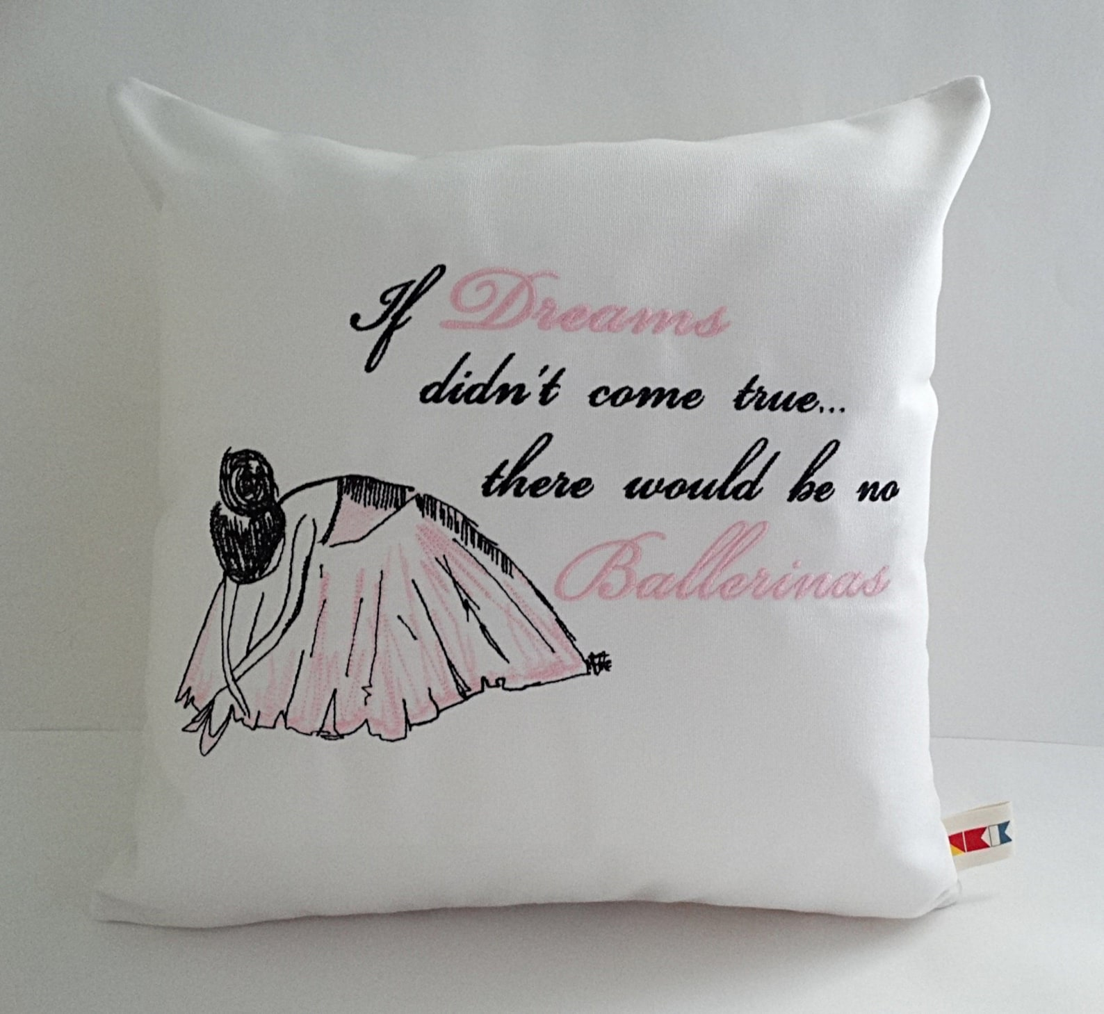 ballerina pillow cover sunbrella natural 16