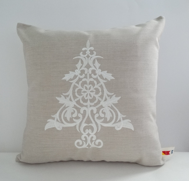 Christmas Pillow Coverscandinavian Pillow Coverembroidered Etsy