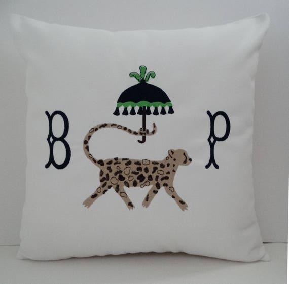 Monogram neck pillow | Etsy