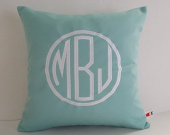 Pillow Cover | Monogrammed Pillow | Home and Living | Initials Pillow | Home Decor | Sunbrella Pillow | Dorm Decor | Three Letter Monogram
