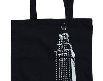 Cleveland Terminal Tower Center - Black Cotton Tote