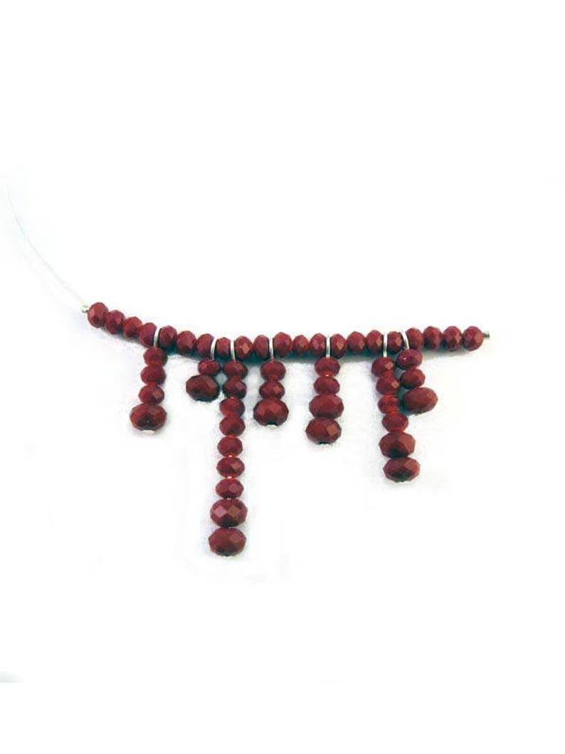 8eeec92c811db Blood Drip Necklace - Halloween Illusion Choker