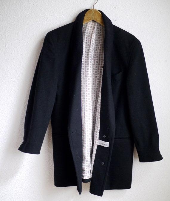 Wool Blazer / Vintage borad shoudler 80s blazer, … - image 4