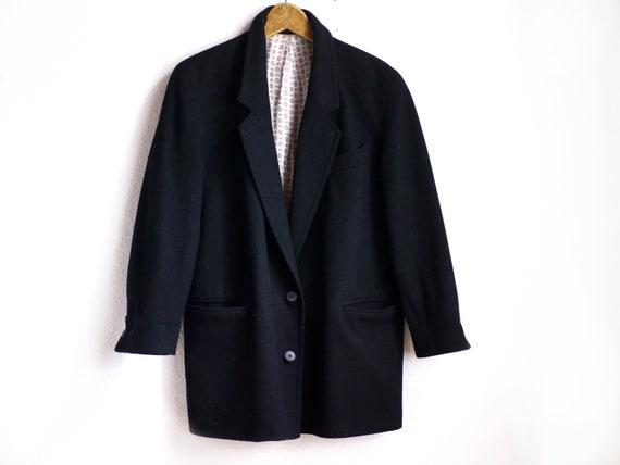 Wool Blazer / Vintage borad shoudler 80s blazer, b