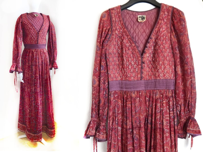 Hippie Kleid Gaze Boho Vintage Baumwollkleid BohoEtsy indische b76fyIYvg
