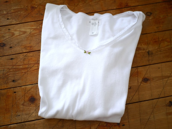 Vintage White Pointelle Undershirt  | Basic French
