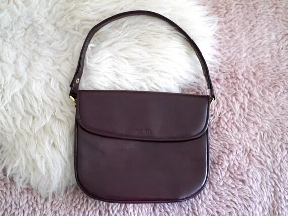 Leather Bag / oxblood leather shoulder bag, women'