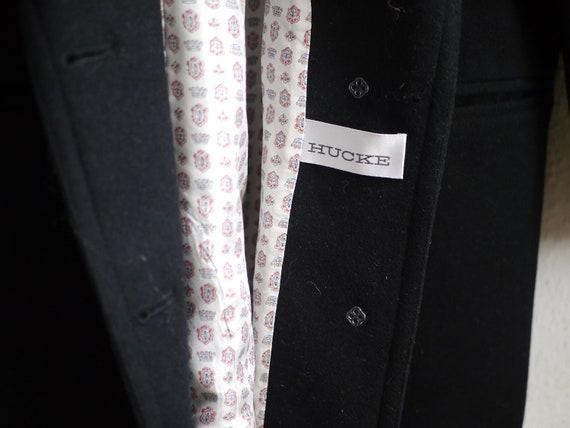 Wool Blazer / Vintage borad shoudler 80s blazer, … - image 5