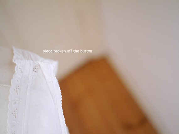 Antique cotton DRESS, White cotton shift  lace dr… - image 7