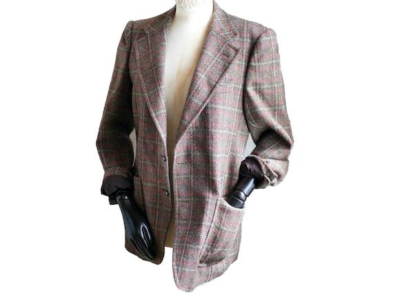Vintage BLAZER checkered, wool plaid men's women's
