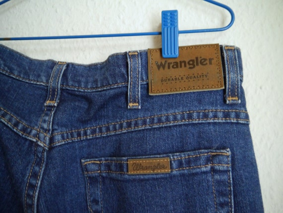 Wrangler Jeans Vintage Mom cut waist 5 straight unisex pocket wide straight L Pants Jeans 32 jeans Jeans W Medium Boyfriend normal 32 blue rxFrqSw