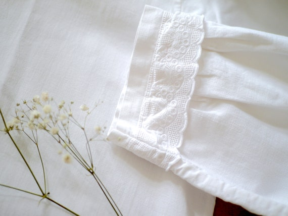 Antique victorian cotton lace dress/long sleeve n… - image 7