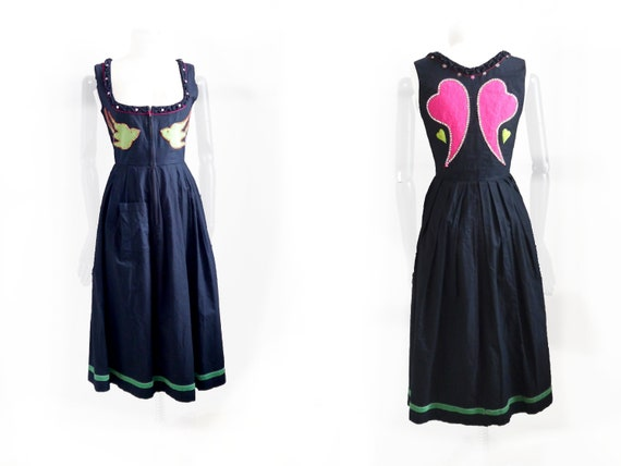 Fantasy DIRNDL dress, Black and pink corset style