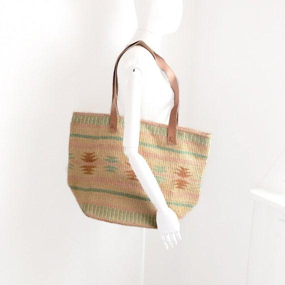 STRAW SHOPPER, shoulder bag, pastel market bag, si