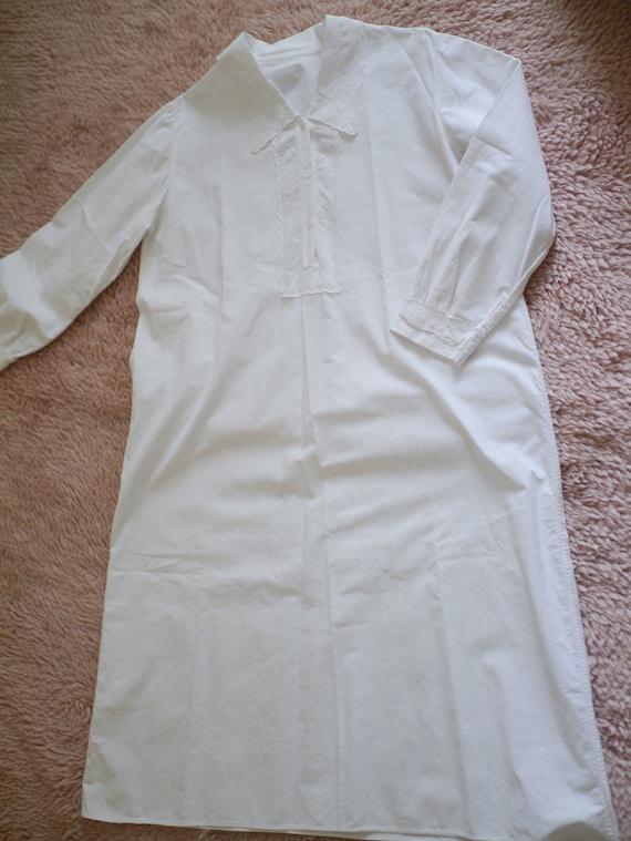 Antique victorian cotton lace dress/long sleeve n… - image 9