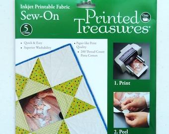 Printed Treasures Inkjet Printable Fabric Sew-On - Dritz
