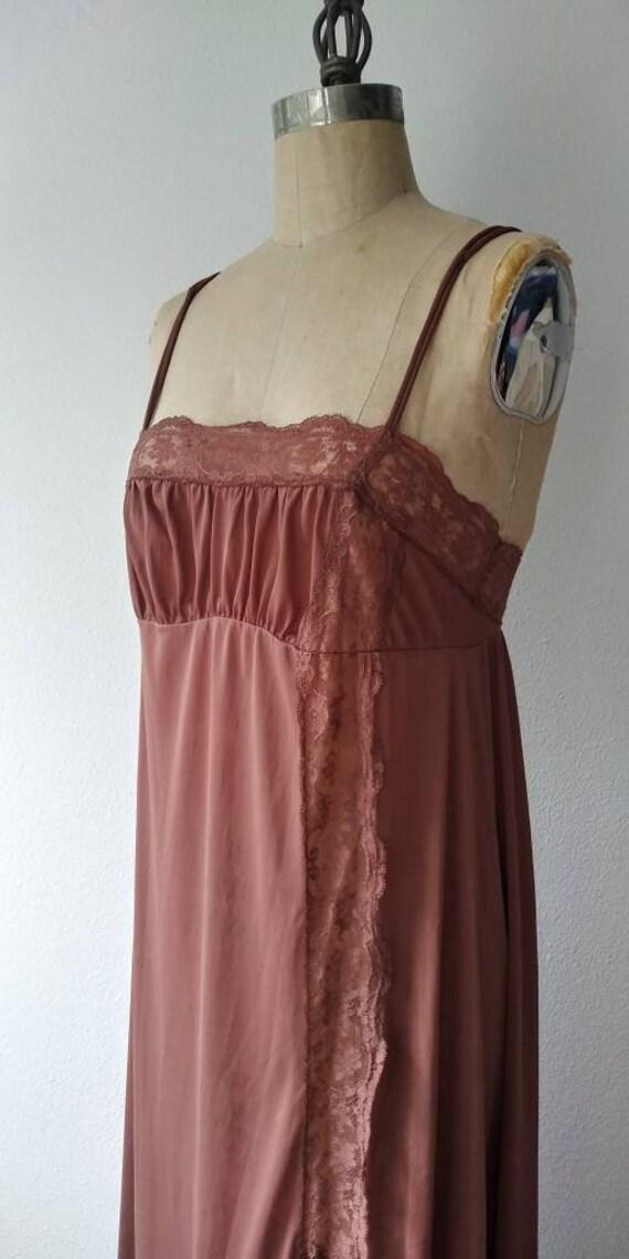 Olga Long Brown Nightgown - 34