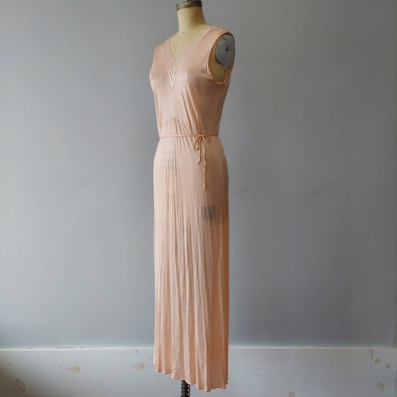 Peachy Pinks 40s  Long Nightgown