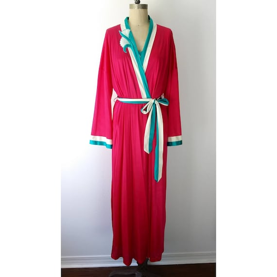 Bright Raspberry Long Nightgown Set by Vanity Fair