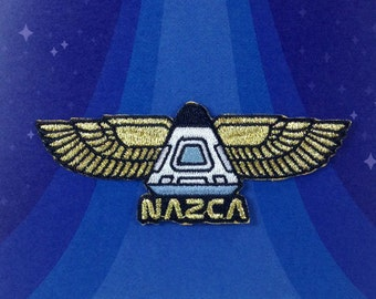 NAZCA Ancient Astronaut Mission Patch ancient aliens Pharaoh Astronaut