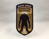 Boggy Creek Monster Brigade embroidered patch