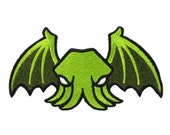Winged Cthulhu embroidered patch | H. P. Lovecraft