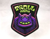 Troll Army embroidered patch