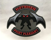 Mothmen cryptid motorcycle club biker embroidered patch