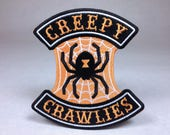 Creepy Crawlies spider Halloween motorcycle club biker patch
