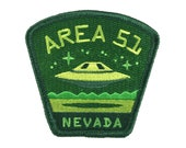 Area 51, Nevada UFO/Alien embroidered travel patch