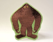 Bigfoot silhouette embroidered patch