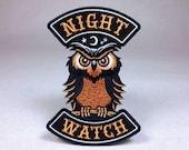 Night Watch owl Halloween motorcycle club biker patch