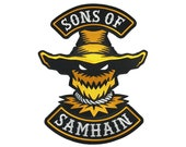 Sons Of Samhain | scarecrow Halloween motorcycle club biker back patch