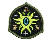 Eye Of Shoggoth secret society shield Lovecraft embroidered patch