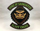 Sons Of Sasquatch cryptozoology monster motorcycle club biker embroidered patch Bigfoot paranormal