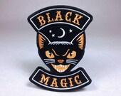 Black Magic | Halloween cat motorcycle club biker patch