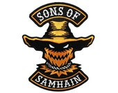 Sons Of Samhain | scarecrow Halloween motorcycle club biker patch