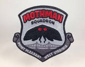 Mothman Squadron Point Pleasant embroidered patch | cryptozoology paranormal monster military badge