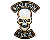 Skeleton Crew skull Halloween motorcycle club biker patch