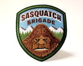 Sasquatch Brigade embroidered patch | cryptozoology paranormal monster military badge Bigfoot