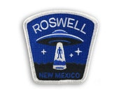Roswell, New Mexico UFO Alien Abduction embroidered travel patch