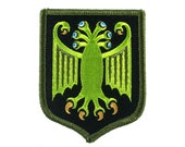 Elder Thing heraldic shield embroidered patch (Arkham variant) | H. P. Lovecraft