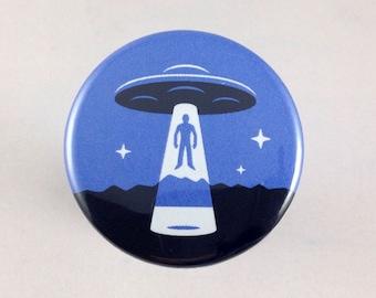 Alien Abduction UFO button