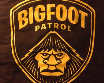 Bigfoot Patrol Screen-Printed T-Shirt