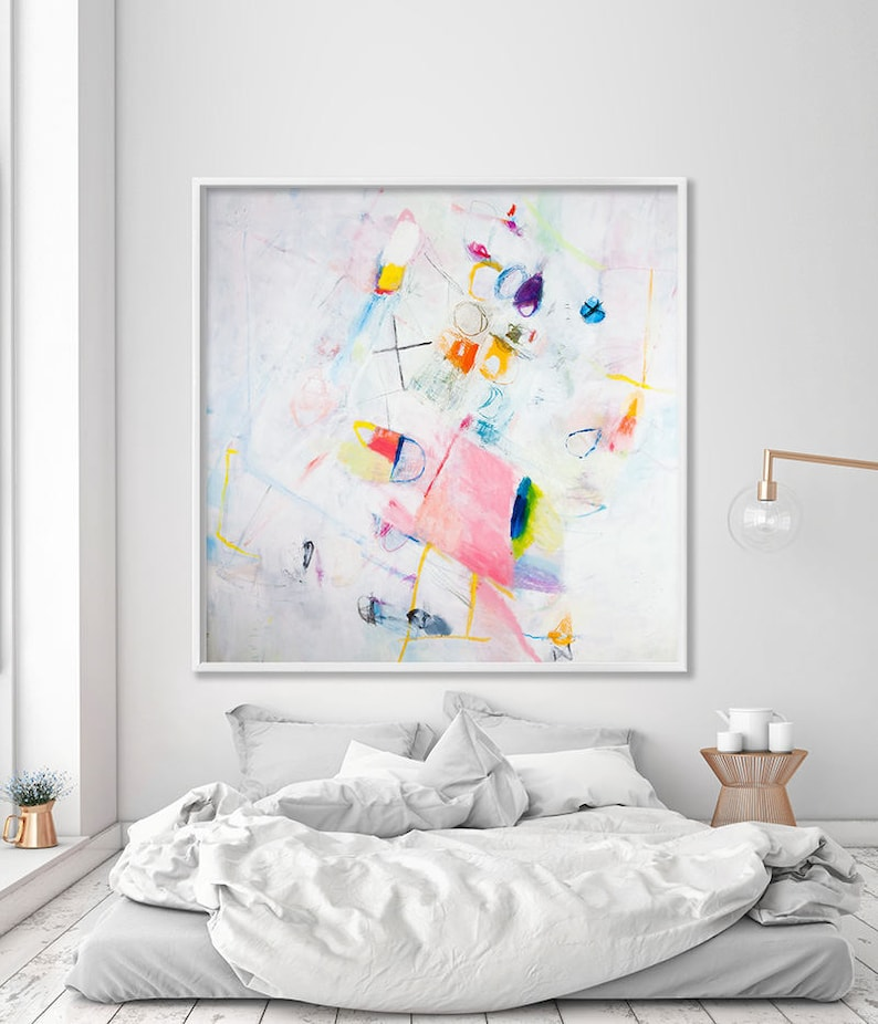 Magnificent Colorful Abstract Art Print Boho Wall Hanging Teen Room Decor New Home T Download Free Architecture Designs Ogrambritishbridgeorg