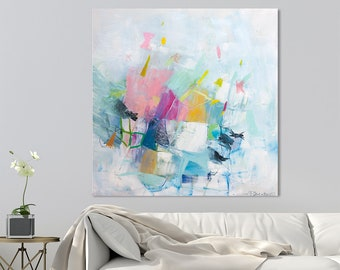 """Original painting, Abstract painting, Large wall art, original art, canvas art, Large Abstract art, Contemporary art """"Just Playing 04"""""""