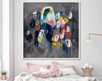 Extra large wall art, large abstract painting canvas, large artwork, colorful abstract art