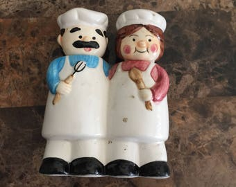 Cheerful Chefs Salt And Pepper Shakers