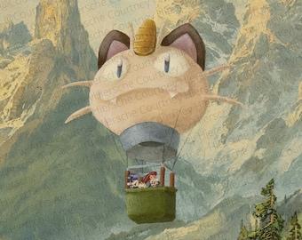 Team Rocket Parody Painting Print